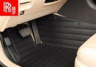 瑞步全包围汽车脚垫XPE环保材质、热压成型技术